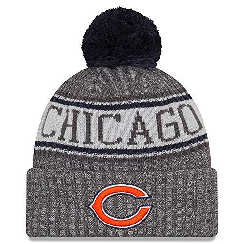 New Era Embroidered Beanie - New Era Chicago Bears Gray/Graphite 2018 Sport Knit NFL Beanie, OSFM