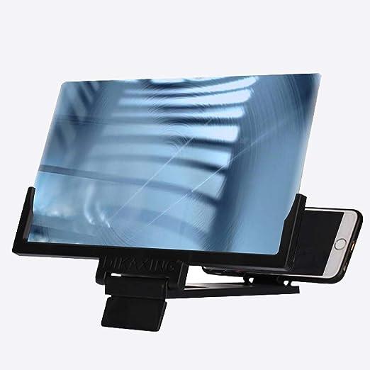 XYSQ Ampllador Pantalla Movl, 14 Pulgadas De Pantalla 3D Altavoces Lupa con Bluetooth, Stand De Película HD Amplificador con Plegable, Soporte For Todos Los Teléfonos Inteligentes (Color : Black): Amazon.es: Hogar
