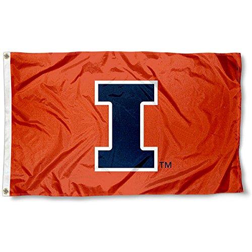 Illinois Fighting Illini Metal (Illinois Fighting Illini Large New Logo 3x5 College Flag)