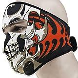 2-In-1-Reversible-Warm-Black-Tribal-Classic-Skull-Neoprene-Half-Face-Mask-Headwear-Motorcycle-Cycling-ATV-Biker-Bike
