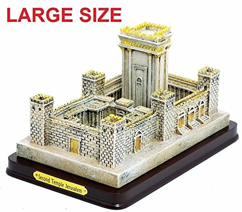 Jerusalem LARGE Holy Second temple Replica polyester structure Israel Judaica Gift by Jerusalem silver shop