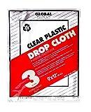 Premier 9' x 12' 3 MIL Clear Plastic Drop Cloth, 19040