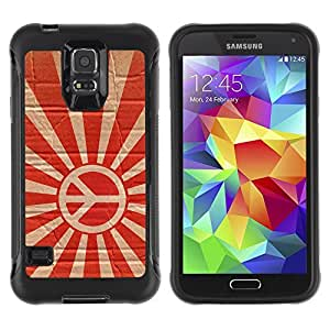 Hybrid Anti-Shock Defend Case for Samsung Galaxy S5 / Rising Peace Sign