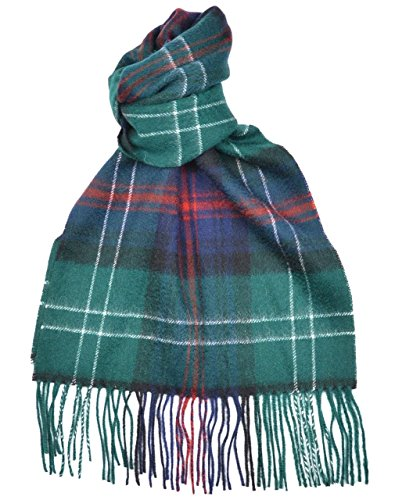 Lambswool Scottish Clan Scarf Sutherland Old Modern - Clan Tartan Modern
