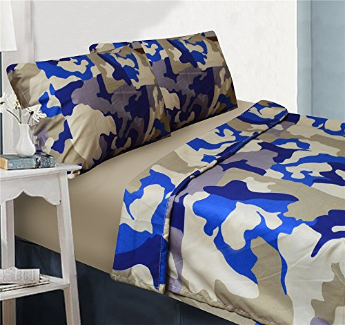 Fancy Collection 4pc Sheet set Kids/Teen Army Camouflage ...