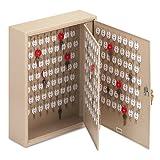 STEELMASTER Dupli-Key Two-Tag Cabinet for 240 Keys, 16.5 x 20.5 x 5 Inches, Sand (201824003)