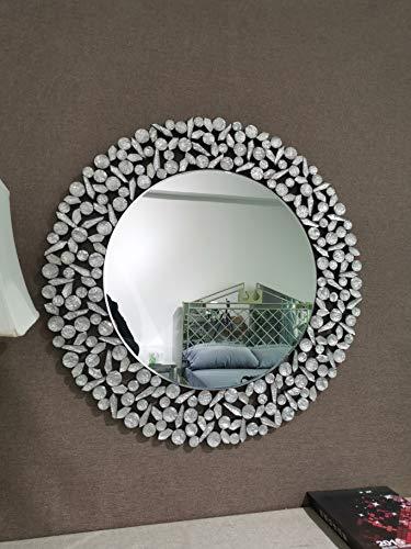 KOHROS Large Antique Wall Mirror Ornate Glass Framed Venetian Decor Mirror Bedroom,Bathroom, Living Room (W 31.5