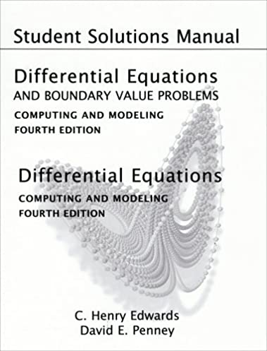 student solutions manual for differential equations and boundary rh amazon com differential equations solution manual zill differential equations solution manual nagle