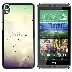 PC/Aluminum Funda Carcasa protectora para HTC Desire 820 BIBLE Follow Christ / JUSTGO PHONE PROTECTOR