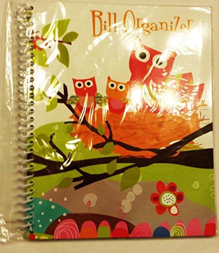 Owl Spiral Bound Monthly Bill Organizer (Owl Theme) Photo #3