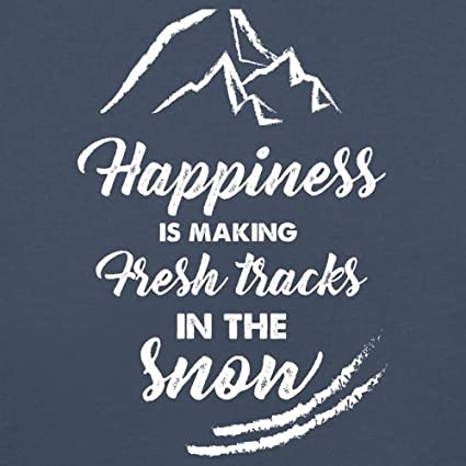 Baby T-Shirt Dressdown Happiness is Making Fresh Tracks in The Snow 8 Colours 3-24 Months