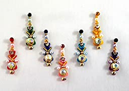 Stick On Ornament Bridal Bindi Forehead Stickers Body Art Tattoo Jewelry Bellydance - #07