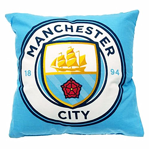 Manchester City FC Official Crest Design Cushion (One Size) (Multicolored)]()