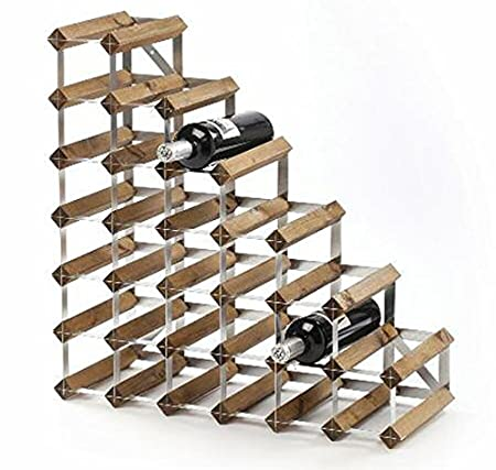 High Quality 27 Bottle Assembled Under Stairs Traditional Wine Rack (Light Oak)
