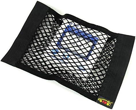 Sedeta Auto R/ücksitz Organizer Netz Tasche mit Klebeband