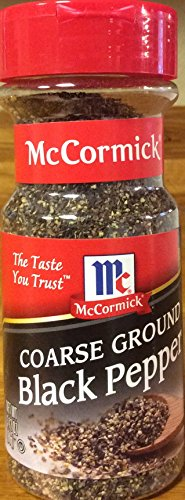 McCormick's COARSE GROUND Black Pepper 3.12oz (3 Pack) by McCormick