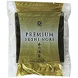 Nagai Premium Sushi Nori Roasted Seaweed, Half Size, 100 Sheets