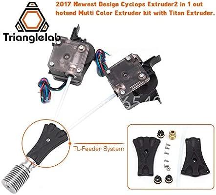 3Dprinter V6 Cyclops kit de doble cabezal 2 vías en 1 salida 2 en ...