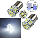Bulbeats 800 Lumens 2pcs 54-BX Chipsets 1156 7506 1003 1141 1073 BA15S 1095 1073 LED Bulbs with Projector Interior RV Camper light,Back Up Reverse Lights,Tail Lights,Rv lights Xenon White 6000K