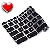 Keyboard Cover For Acer Chromebook 15 Inch Models PDay Special Buy One Get One FREE CB5-571 | C910 | CB3-531 Silicone Skin Laptops Accessories By Casiii |15'' Black