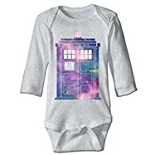 Missone Boy's & Girl's Doctor Call Police Box DC WHO Long Sleeve Jumpsuit Outfits