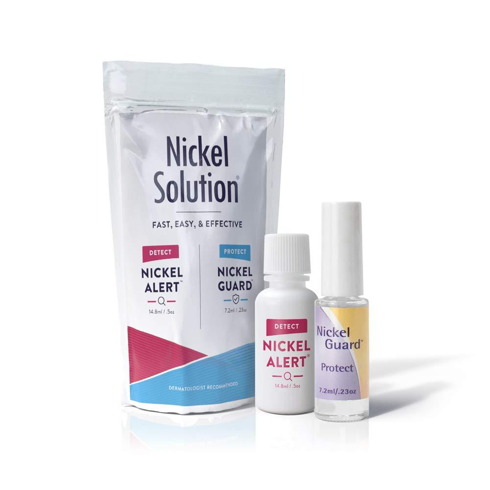 Nickel Solution - No Nickel - 2 Pack of Nickel Alert Testing Solution & Nickel Guard Protective Coating