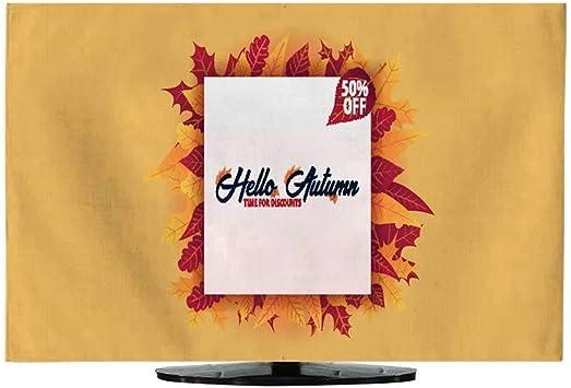 Funda de televisión de Fondo de otoño con Hojas para la Venta de la Compra o póster de promoción y Marco de folleto o Cartel de Tela, Plantilla de ilustración de Vector: