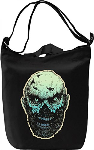 Scary head Borsa Giornaliera Canvas Canvas Day Bag| 100% Premium Cotton Canvas| DTG Printing|
