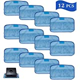 I-clean 12-Packs Wet Cloths for iRobot Braava Robot, Replacement Washable Pro-Clean Mopping Cloths For iRobot Braava 380t 320 Mint 4200 5200