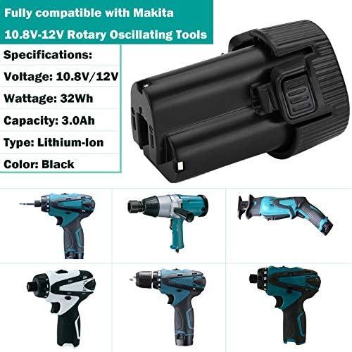 CLX201X DF331D DF032D BATTERIE 2000mAh 12V Li-Ion pour Makita DMR107 CLX201