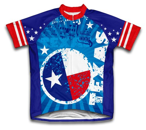 ScudoPro Texas Short Sleeve Cycling Jersey for Women - Size M Blue