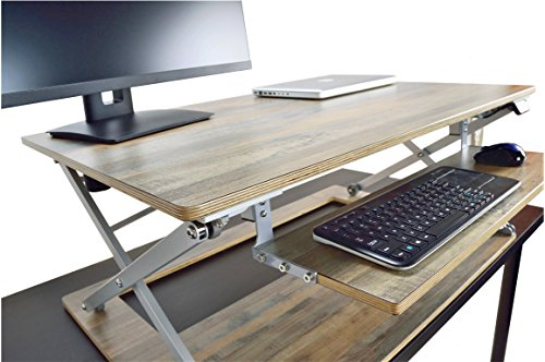Attollo Desk - ELECTRIC PREMIUM STANDING DESK - Height Adjustable Desk Converter with sliding keyboard tray | 36