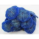 Aquarium Fish Tank Silicone Sea Anemone Artificial Coral Ornament SH217 blue