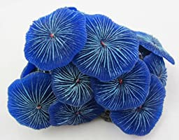 Aquarium Fish Tank Silicone Sea Anemone Artificial Coral Ornament SH217 blue