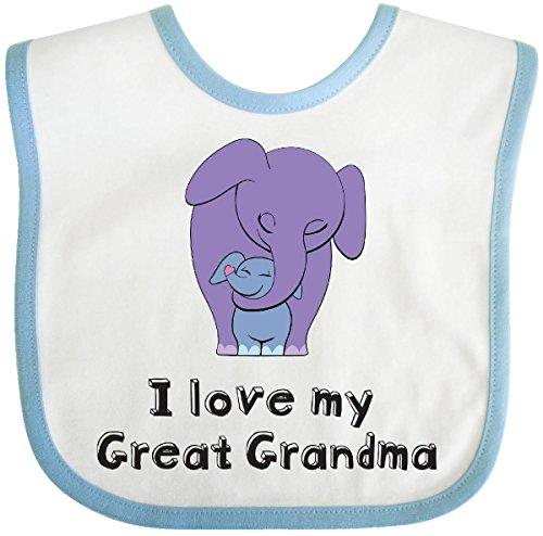 (Inktastic - I Love my Great Grandma Elephant Baby Bib White/Blue 26d5f)