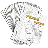 Lavievert Puzzle Saver Peel & Stick Adhesive Paper Jigsaw Puzzle Glue Best Way to Preserve Your Finished Puzzle - 10 Sheets