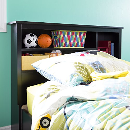 Vito Bookcase Headboard, Twin, Pure Black ()