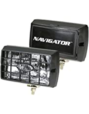 """Navigator NV-1204"""" x 6"""" Clear Fog Light with Stone Guard and Cover"""