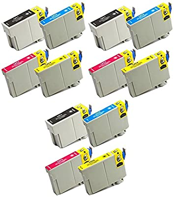 12 Pack Inkjet Cartridge Replacement for Stylus NX530 Stylus NX625 WF-7010 WF-7510 WF-7520 WorkForce 545 WorkForce 60 WorkForce 630 WorkForce 633 WorkForce 635 WF-3520 WF-3530 WF-3540 645 840 845