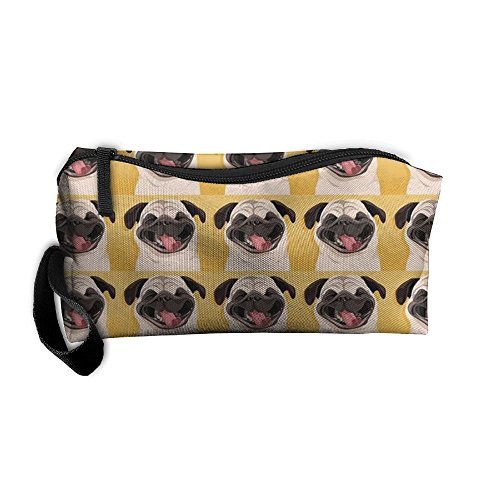Funny Pug Smile Handy Storage Pouch Travel Makeup Bag Oxford Cloth Kit Organizer For Sewing Medicine Comestic Fashion Pencil Pen - Sunglasses Wallpapers India
