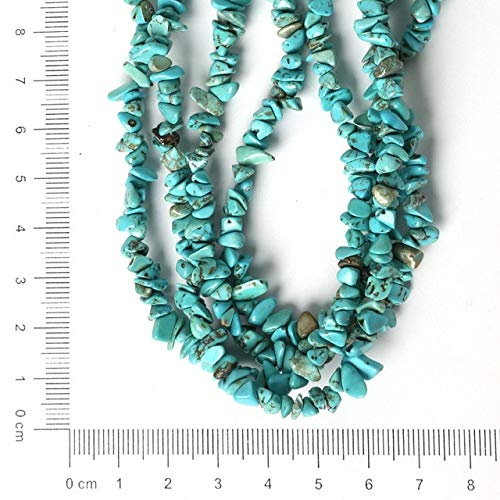 Calvas Natural Stone Chip Beads Selectable Materials : Gold Quartz Moon Stone Blue Strand 34