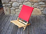 Blue Ridge Home Fashion Caravan Folding Chair in Red