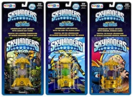 SKYLANDERS LEGENDARY MAGIC LIFE LIGHT CRYSTALS SET OF 3 FREE IMAGINATORS CHEST