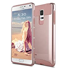 Note 4 Case, Imikoko™ Galaxy Note 4 Protective Case Shockproof Heavy Duty Hybrid Armor Protection Defender Case High Impact Case for Samsung Galaxy Note 4 (Rose Gold)