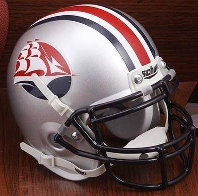 Schutt Shippensburg Red Raiders Mini XP Authentic Helmet - NCAA Licensed - Shippensburg Red Raiders Collectibles
