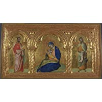 fan products of The Polyster Canvas Of Oil Painting 'Lorenzo Veneziano The Madonna Of Humility With Saints Mark And John ' ,size: 20 X 36 Inch / 51 X 93 Cm ,this Amazing Art Decorative Prints On Canvas Is Fit For Laundry Room Decor And Home Gallery Art And Gifts