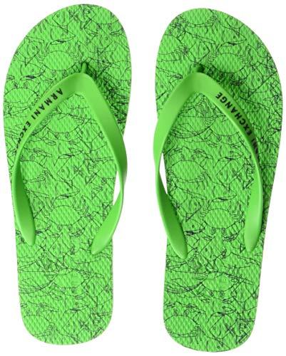- A|X Armani Exchange Men's Flip-Flop, Green, 42 M EU (9 US)