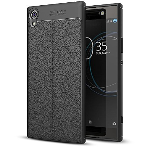 Sony Xperia XA1 Ultra Leather Look Silicone Case by NALIA, Ultra-Thin Protective...