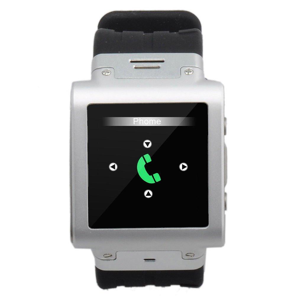 pudax Acero Inoxidable Impermeable w838 Reloj Teléfono Quad Band ...