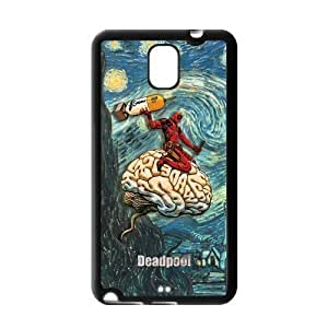 Fashion Hard Protective Gel Rubber Coated Cell Phone Case Cover for Samsung Galaxy Note 3 - Deadpool